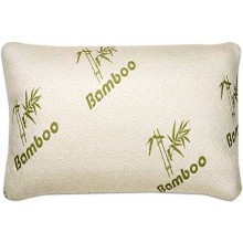 CnA Stores - Bamboo Memory Foam Pillow - Natural Antibacterial and Temperature Sensitive Properties - Zipped Removable Cover